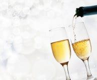 Verres avec le champagne Photographie stock