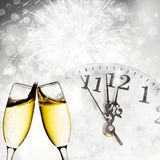 Verres avec le champagne Photos libres de droits