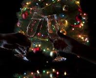 Verres avec le champagne Photo libre de droits