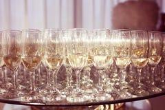 Verres avec le champagne Images stock