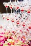 Verres avec le champagne Photographie stock libre de droits