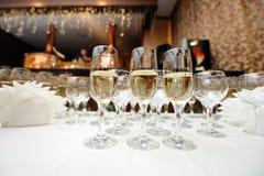Verres avec le champagne Photo stock