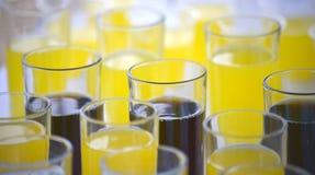 Verres avec les boissons non alcoolisées photographie stock libre de droits