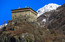 Verres Castle, Aosta Valley, Northern Italy (ITA) Royalty Free Stock Photo