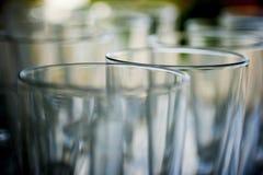 Verres cristal Photographie stock libre de droits