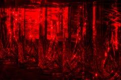 Verres cristal avec les rayons rouges Images stock