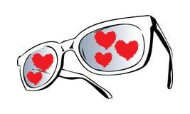 Verres d'amour Photos libres de droits