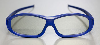 Verres 3D bleus Photo stock