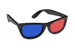 verres 3D dans le rétro style rendu 3d Photographie stock libre de droits