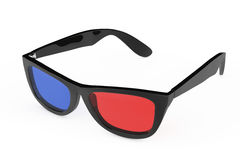 verres 3D dans le rétro style rendu 3d Images libres de droits