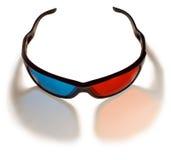 verres 3d en plastique pour des films de observation, sur le blanc Photo libre de droits