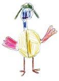Verres d'oiseaux du dessin des enfants Photos libres de droits
