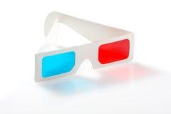 verres 3d sur le blanc Images stock
