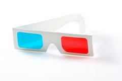 verres 3d sur le blanc Photo libre de droits