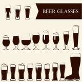 Verres de bière Photos stock
