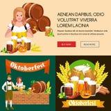 Verres de bière blonde et foncée avec des casse-croûte sur un fond de bar Photo stock