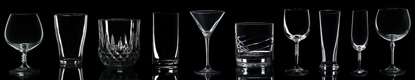 Verres de boissons Photo stock