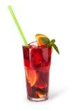 Verres de boissons de fruit avec des glaçons Image stock