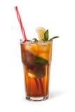 Verres de boissons de fruit avec des glaçons Photo libre de droits