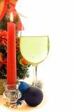 Verres de champagne à Noël et à la nouvelle année Photos stock