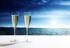 Verres de champagne Image libre de droits