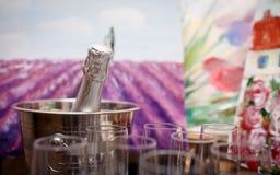 Verres de champagne Images libres de droits