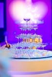 Verres de Champagne dans la cérémonie de mariage Photos libres de droits