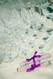 Verres de champagne de mariage Image libre de droits
