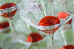 Verres de champagne de mariage Images libres de droits