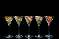 Verres de cocktail Images libres de droits