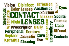 Verres de contact Images stock