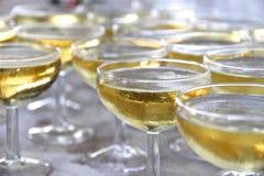 Verres de coupé de champagne Photos stock