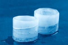 Verres de glace Photos libres de droits