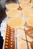 Verres de jus d'orange Photographie stock