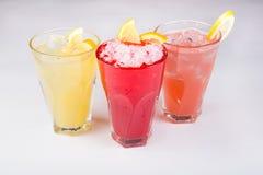 Verres de limonade Photo stock