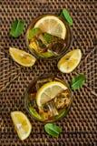 Verres de limonade douce glacée Photos libres de droits