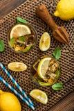 Verres de limonade douce glacée Images libres de droits