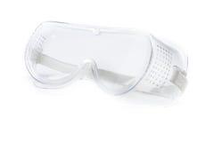 Verres de sûreté transparents d'isolement Image stock
