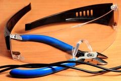 Verres de sûreté, lunettes photo stock