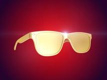 Verres de soleil d'or rendu 3d Image stock