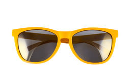 Verres de soleil jaunes d'isolement Image libre de droits