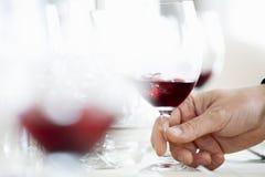 Verres de vermouth frais à disposition images libres de droits