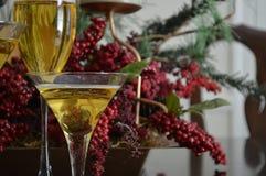 Verres de vin à Noël Photo stock