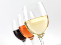 Verres de vin Photos stock