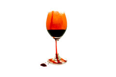 Verres de vin de sang image libre de droits