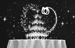 Verres de vin et champagne de recouvrement Image libre de droits