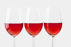 Verres de vin rosé Images stock