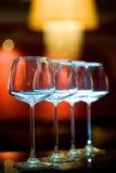 Verres de vin vides Photographie stock libre de droits