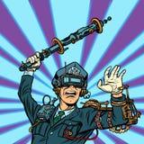 Verres de VR Réalité virtuelle violence de police, censure o d'état illustration libre de droits