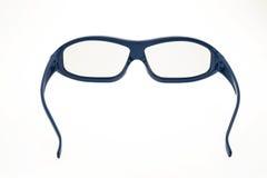 verres du cinéma 3D - bleu Photos libres de droits